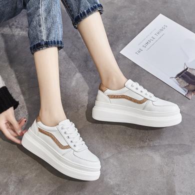 新款厚底休閑板鞋女時尚松糕小白鞋休閑女鞋MM5002