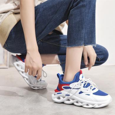 新款网布拼接情侣运动鞋透气厚底老爹鞋运动休闲跑鞋户外男女鞋DL-DS05