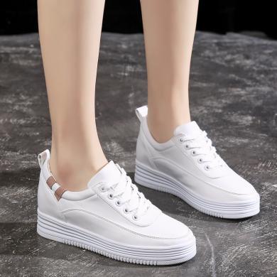 女鞋內增高4CM小白鞋四季款休閑鞋日常百搭潮鞋ins超火的單鞋 DLC009