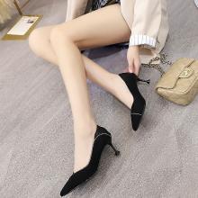 新款四季女鞋氣質通勤優雅細跟女鞋高跟單鞋女DX-D96160