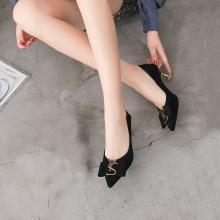 新款四季女鞋氣質通勤優雅細跟女鞋高跟單鞋女DX-D96161