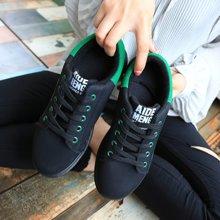极有家新款学生韩版厚底系带休闲板鞋女1704
