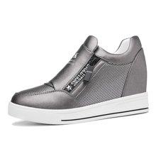 莫蕾蔻蕾鞋子女2018新款内增高女鞋女韩版百搭学生单鞋女平底休闲运动鞋70025ML