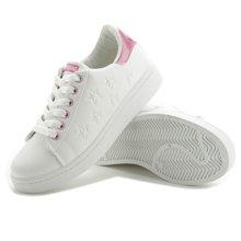 极有家韩版休闲低帮拼色小白鞋 平底系带百搭女鞋17019