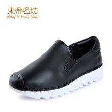 东帝名坊新款一脚套韩版厚底舒适松糕鞋防水台时尚运动休闲鞋女 D660TH06