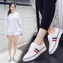 板鞋女鞋牛皮女士休闲皮鞋女小白鞋韩版运动鞋鞋子女x2356