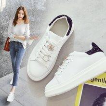 OKKO运动鞋厚底增高小白鞋女百搭韩版松糕底单鞋XBB-8