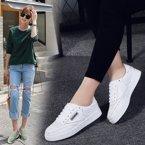 春季單鞋板鞋女運動休閑鞋韓版小白鞋平底鞋學生百搭女鞋x8511