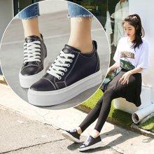 OKKO板鞋女鞋女士内增高休闲皮鞋女小白鞋韩版运动鞋鞋子女xA08-3