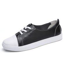 西瑞韩版休闲鞋女系带休闲小皮鞋单鞋MN17010
