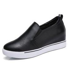 西瑞新款内增高女鞋套脚小白鞋时尚乐福鞋MN253
