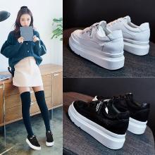 Simie松糕鞋女低帮小白鞋单鞋内增高鞋X35-1