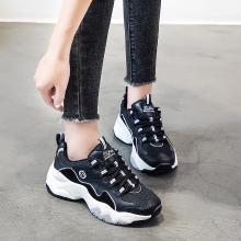 搭歌新款休闲鞋复古拼接熊猫鞋厚底单鞋韩版运动老爹鞋G2018-6