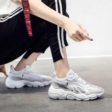 搭歌秋季新款蝴蝶鞋复古老爹鞋女百搭运动透气跑步女鞋8312-6蝴蝶鞋