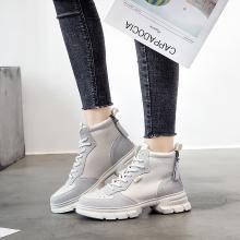 搭歌秋季老爹鞋女厚底运动高帮鞋韩版百搭星星运动鞋G8906