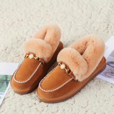 西瑞新款毛毛鞋女時尚高低幫加厚棉鞋雪地鞋RXF10