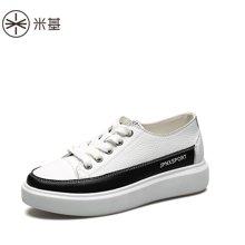 米基小白鞋女厚底系帶新款女鞋松糕鞋女春季單鞋女休閑運動鞋YD-T70