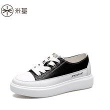 米基松糕鞋女厚底英倫小白鞋女百搭平底春季單鞋女新款女鞋子YD-T69