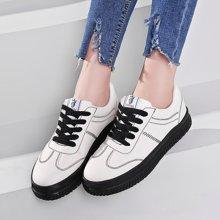 港風女鞋子街拍板鞋女小白鞋新款春季韓版百搭厚底運動休閑鞋MNDA55