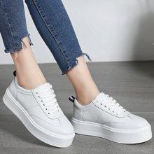 西瑞新款厚底休闲板鞋女时尚小白鞋增高百搭MNTW612