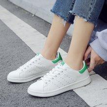 新款春季小白鞋情侣板鞋平底简约韩版百搭白色学生运动女鞋单鞋MNDA62