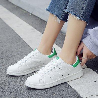 新款春季小白鞋情侶板鞋平底簡約韓版百搭白色學生運動女鞋單鞋MNDA62
