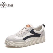 米基松糕鞋女厚底休閑鞋時尚女鞋春新款潮百搭韓版撞色運動鞋YD-T76