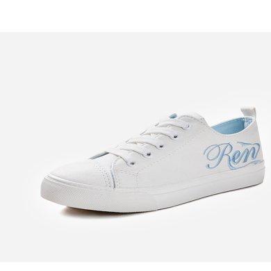 人本帆布鞋女鞋子韩版学生原宿风板鞋ulzzang百搭平底小白鞋布鞋