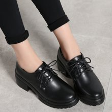 西瑞新款休闲鞋女时尚粗跟低跟单鞋女MNWD7901