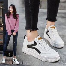 小白鞋女新款韩版学生休闲运动鞋松糕底板单鞋LP830-5