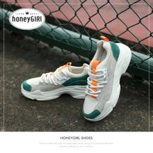 honeyGIRL2018秋季新款女鞋老爹鞋韩版ulzzang休闲平底鞋厚底HG18SP341XT752