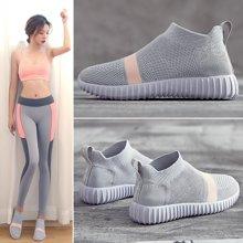 新款ins超火的鞋子袜子鞋透气运动鞋女韩版ulzzang原宿百搭弹力鞋MX6206-1