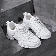 潮牌新款厚底运动鞋透气系带ins时尚小白鞋女韩版原宿休闲鞋MX-AW01