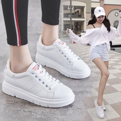 潮牌2019新款女鞋百搭小白鞋運動休閑鞋內增高學生板鞋LP830-52