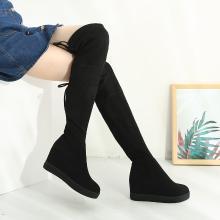 西瑞新款過膝長筒靴女過膝長靴瘦腿靴女靴單靴內增高女靴MNA8518