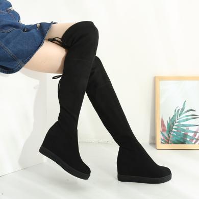 西瑞新款过膝长筒靴女过膝长靴瘦腿靴女靴单靴内增高女靴MNA8518