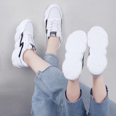 MIJI女鞋新款透气休闲鞋网红小熊鞋阿甘鞋ins老爹鞋运动鞋潮鞋YONGGE9012