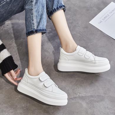 西瑞新款休闲板鞋女时尚减龄松糕小白鞋MM5003-1