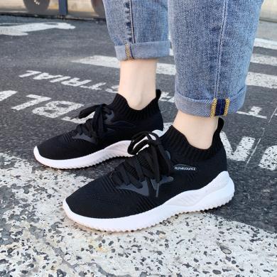 搭歌2019夏新款飛織襪子鞋女老爹鞋韓版女鞋透氣運動鞋女KM008