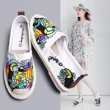 MIJI女鞋2019春夏新款帆布鞋平底休闲鞋网红布鞋渔夫鞋潮鞋学生鞋YG-YZ908