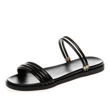 新款平底两穿凉鞋温柔风女鞋夏日度假风凉鞋女MN-A9221