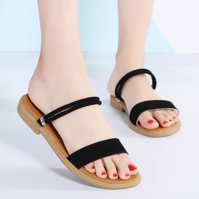 西瑞凉鞋女时尚夏?#37202;?#36319;?#37233;?#20937;鞋温柔风女鞋MN822