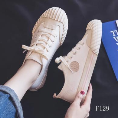 女鞋夏季新款帆布鞋韓版潮流百搭女鞋學生小白鞋百搭潮鞋 JN-JF229