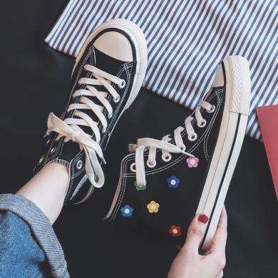 女鞋夏季新款高幫鞋手繪韓版清雅小白鞋涂鴉女鞋 JN-JF231