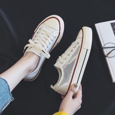 搭歌2019夏季新款网面休闲鞋女学生运动网面镂空复古流行女鞋帆布鞋K8036
