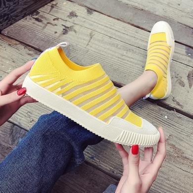 OKKOins网红潮鞋夏季新款弹力袜子鞋低帮飞织女鞋休闲板鞋SL-F65