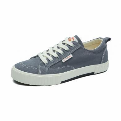 人本網紅中學生黑色布鞋透氣帆布鞋透氣軟底秋季系帶低幫鞋潮鞋子
