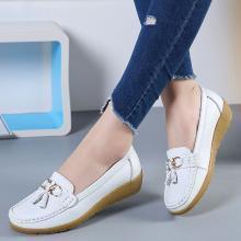 【35-44】大碼女鞋真皮護士鞋圓頭休閑舒適單鞋媽媽鞋豆豆鞋  MN5272