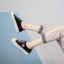 OKKO潮牌女鞋莱卡低帮小白鞋女韩版学生系带糖果色女板鞋LC788
