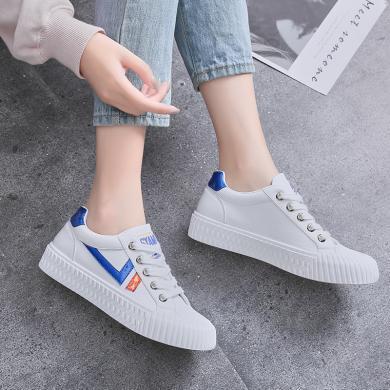 女鞋小白鞋日常休閑平底鞋四季款百搭潮流休閑鞋 低幫鞋  DL901